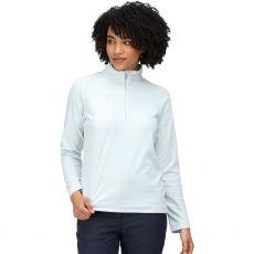 Regatta Pimlo Ladies Half Zip Velour Fleece Ice Blue