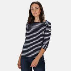 Regatta Polina Ladies Navy Stripe T-Shirt