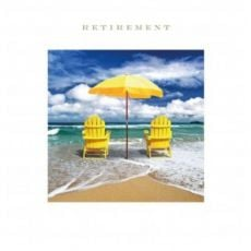 Retirement at the beach card