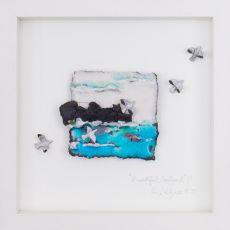 Rebeka Kahn 'Beautiful Ireland Cliff' 26cm x 26cm