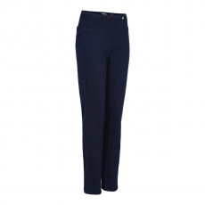Robell Bella Full Length Navy Denim Trousers