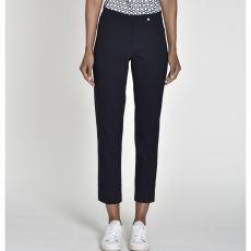Robell Bella 3/4 Length Navy Trousers