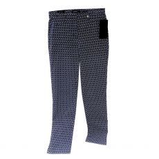 Robell Rose Print Navy Trousers