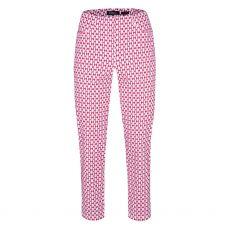 Robell Bella Pink Print Trousers