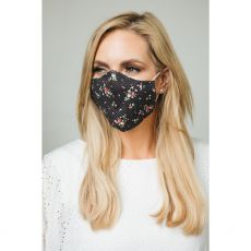 Rose Polka Dot Cloth Face Mask
