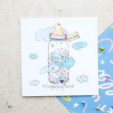 Ruby Doodle Baby Juice New Baby Card mood shot