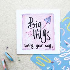 Ruby Doodle Big Hugs Coming Your Way Card mood
