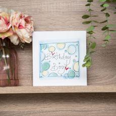 Ruby Doodle Birthday Boy Card  lifestyle image
