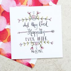 Ruby Doodle Happily Ever After Wedding Card mood
