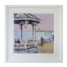Ruth Moloney Peering out to Sea Dun Laoghaire Pier 21x17