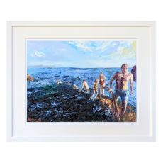 Ruth Maloney Winter Swimming at the Forty Foot 21x17