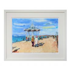 Ruth Maloney Winter Romance on the Pier Dun Laoghaire 13x11