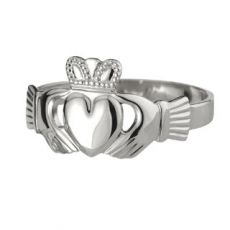 Solvar Sterling Silver Puffed Heart Mens Ring