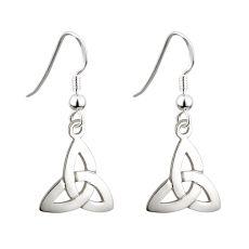 Solvar Trinity Knot Drop Earrings