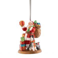 Santa Leaving Gifts Hanging Ornament