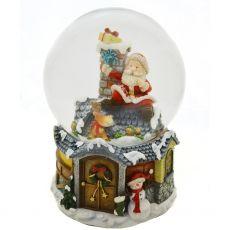 Santa's arrival snow globe