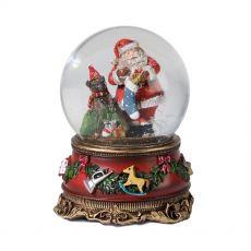 Medium Santa with Presents Snow Globe