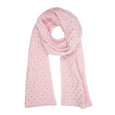 Aran Luxe Pink Mist Scarf