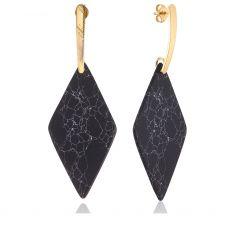 Scribble & Stone Marble Statement Earrings