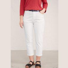 Seasalt Albert Quay White Crop Trousers