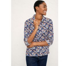 Seasalt Larissa Shirt Cornish Cottages Print Model