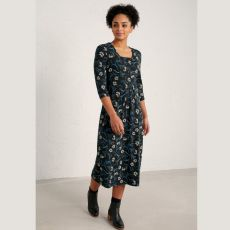 Seasalt Seed Packet Daisy Sprigs Black Dress