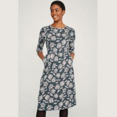 Seasalt Tamsin Sketched Flowers Granite Dress