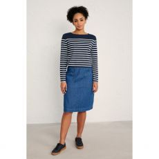 Seasalt Pitching Indigo Skirt