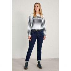 Seasalt Sailor Falmouth Breton Chalk Midnight Shirt