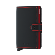 Secrid Matte Black/Red Gents Mini Wallet