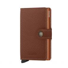 Secrid Saffiano Caramel Gents Mini Wallet