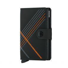 Secrid Stitch Matte Black Gents Mini Wallet