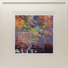Sharon McDaid Birds & Autumn Birch 24 Inch Frame