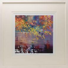 Sharon McDaid Birds & Autumn Birch 18 inch Frame