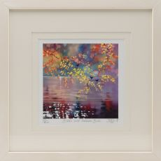 Sharon McDaid Birds & Autumn Birch 12 inch Frame