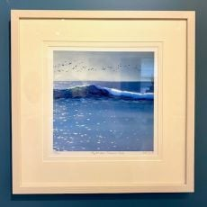 Sharon McDaid Flight Over Summer Surf 12 x 12 Frame