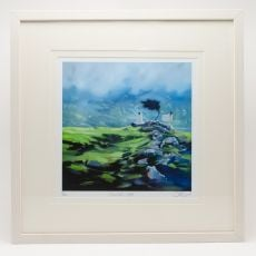 Sharon McDaid Mountain Mist 18 x 18 Frame