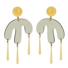 Shock of Grey Megamelt Sage Green Earrings
