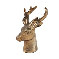 Small Gold Stag Head