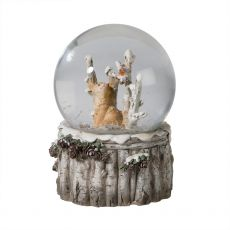 Snowy Fox Musical Snow Globe