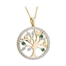 Solvar 14K Gold Tree Of Life Pendant