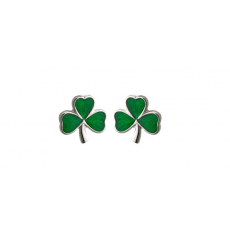 Solvar Shamrock Stud Earrings