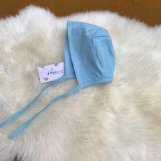 Stork & Co Blue Organic Cotton Bonnet 0-6 Months