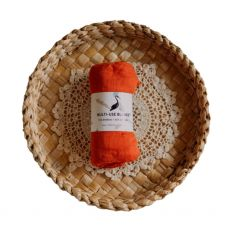 Stork & Co Orange Bamboo Blanket