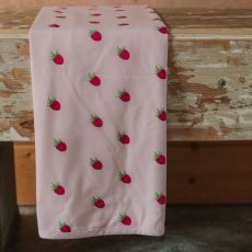 Stork & Co Raspberry Organic Cotton Blanket