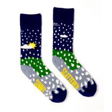 Irish Socksiety Sunny Spells Socks. Front view of socks