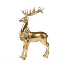 Tall Standing Gold Deer Figurine