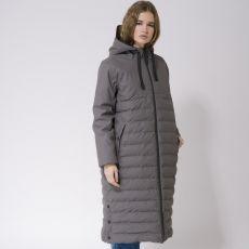 Tanta Rainwear Damla Grey Long Puffer Jacket model