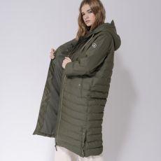 Tanta Rainwear Damla Khaki Long Puffer Jacket