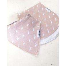 The Stork Box Burp Cloth & Bib Set Girl